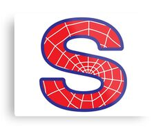 S letter in Spider-Man style Metal Print