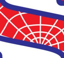 S letter in Spider-Man style Sticker