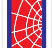 T letter in Spider-Man style Sticker