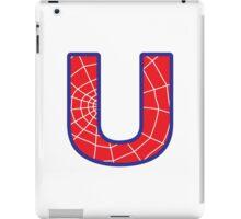 U letter in Spider-Man style iPad Case/Skin