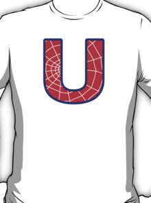 U letter in Spider-Man style T-Shirt