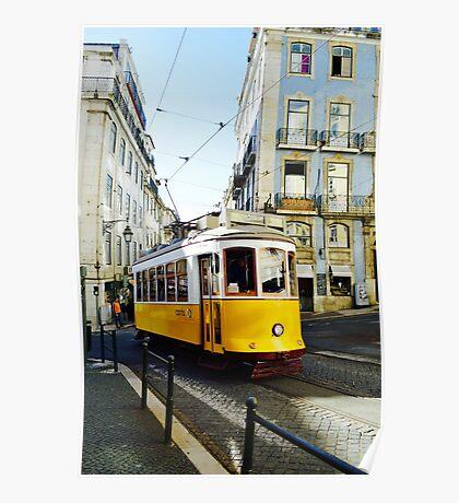 Lisbon Yellow Tram Poster