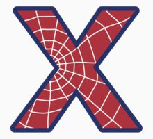 X letter in Spider-Man style Kids Clothes
