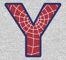 Y letter in Spider-Man style Kids Clothes