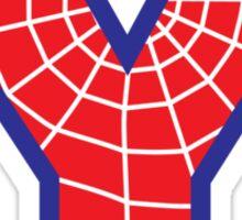 Y letter in Spider-Man style Sticker