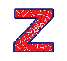 Z letter in Spider-Man style Photographic Print