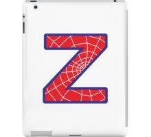 Z letter in Spider-Man style iPad Case/Skin