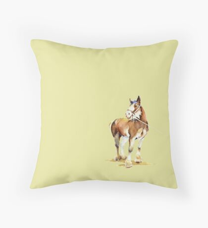 Clydesdale Horse  Throw Pillow