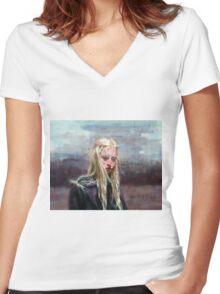 Annita Women's Fitted V-Neck T-Shirt