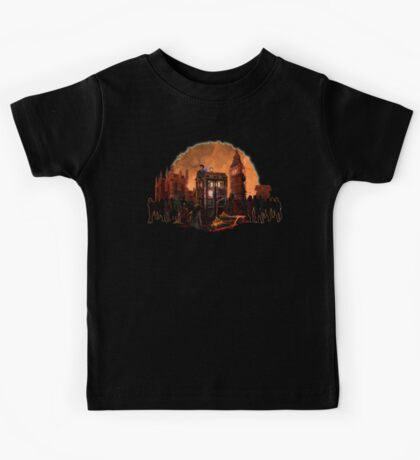 time and space traveller trapped in the zombie land Kids Tee