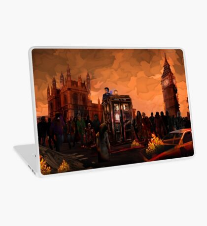 time and space traveller trapped in the zombie land Laptop Skin