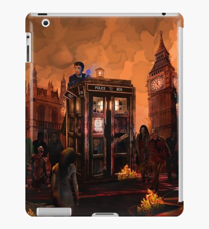 time and space traveller trapped in the zombie land iPad Case/Skin