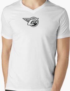 CDS Logo Red Long Sleeve T-Shirt Mens V-Neck T-Shirt