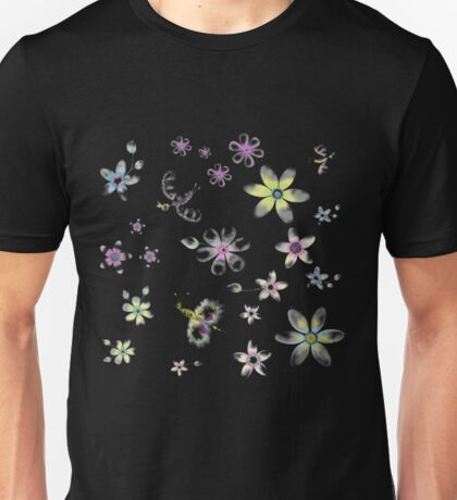 Flowers And Butterflies Funny Gardening Shirts Unisex T-Shirt