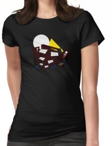 Abstract Building Womens Fitted T-Shirt