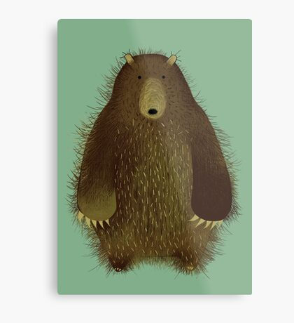Barnsley the Big Bear. Metal Print