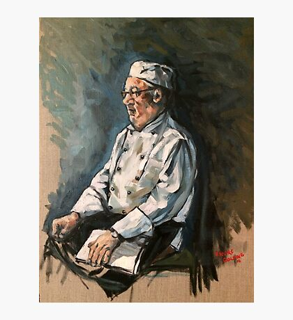 """Tommy the chef. 16x20"""" oil on linen on board.  Photographic Print"""