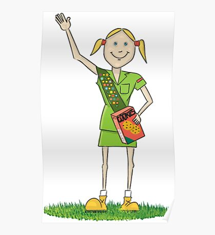Girl Scout Funny Scout Shirt Poster