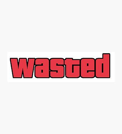 Wasted - GTA San Andreas Photographic Print