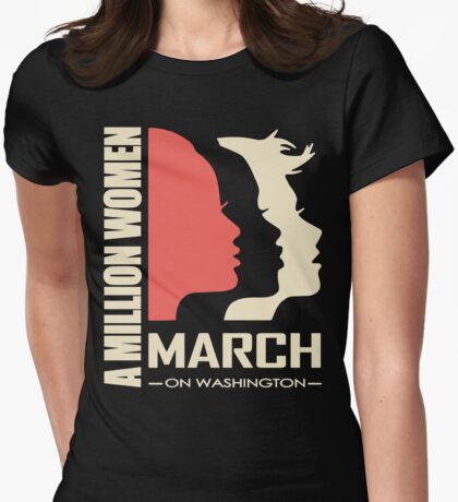 Million Women March Womens Fitted T-Shirt