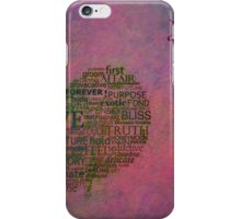 Love is poster with white frame iPhone Case/Skin