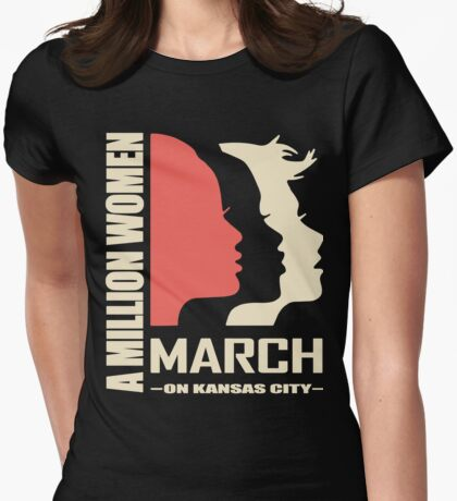 Women March On Kansas City Womens Fitted T-Shirt