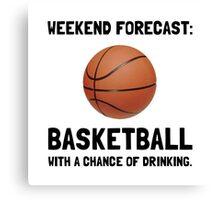 Weekend Forecast Basketball Canvas Print