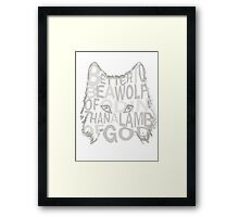 better be a wolf of odin than a lamb of god (2) Framed Print