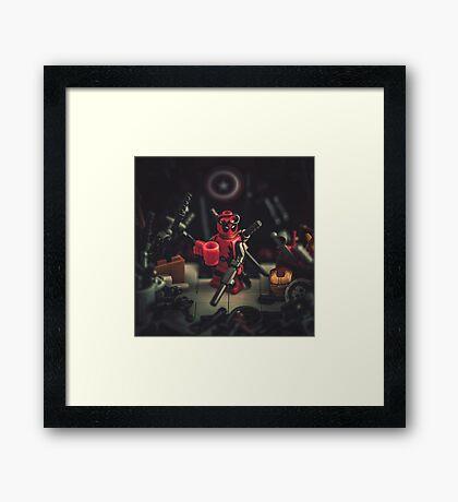 Captain Deadpool Framed Print
