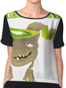 Cool funny vegetable and Fruits Chiffon Top