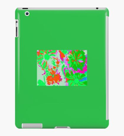 Green and red Flowers iPad Case/Skin
