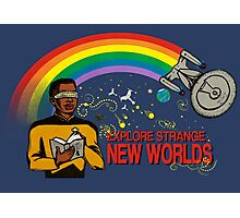 Reading Trek, Shirt Photographic Print