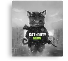 Cat of Duty Canvas Print