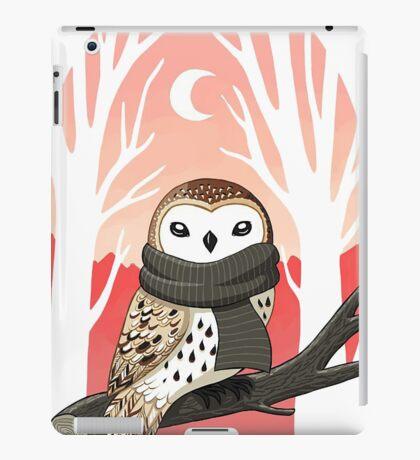 Beautiful owl among the trees iPad Case/Skin