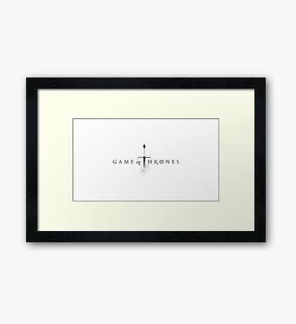 Game of Thrones (Sword Logo) Framed Print
