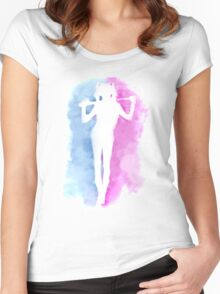 Watercolour Quinn Women's Fitted Scoop T-Shirt