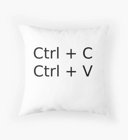 Copy paste Ctrl-c Ctrl-V Throw Pillow