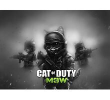 Cat of Duty 2 Photographic Print