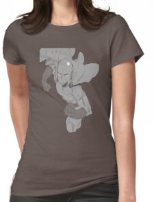 Black Punch Womens Fitted T-Shirt
