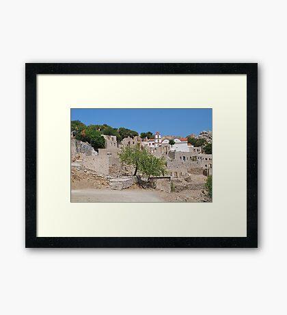Mikro Chorio, Tilos Framed Print