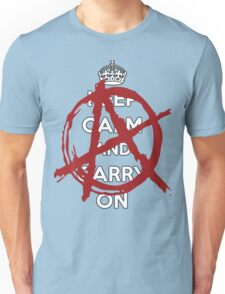 Keep Calm And Carry On Anarchy Unisex T-Shirt