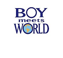 Boy meets world Photographic Print