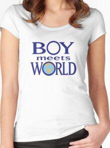 Boy meets world Women's Fitted Scoop T-Shirt