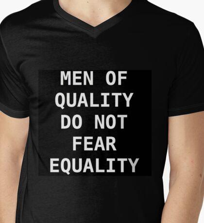 MEN OF QUALITY DO NOT FEAR EQUALITY (black) Mens V-Neck T-Shirt