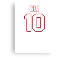 NFL Player Eli Manning ten 10 Canvas Print
