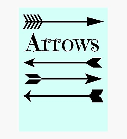 Arrows Photographic Print