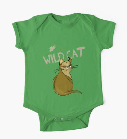 Cat Kitty wild slogan spruch cute drawing cat One Piece - Short Sleeve