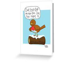 Puntastic robin Greeting Card
