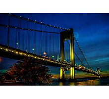 Verrazano Moon Photographic Print