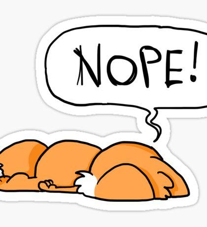 Nope-Fuchs Sticker